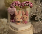 rabbit and bunny  Wedding Cake Topper--k906