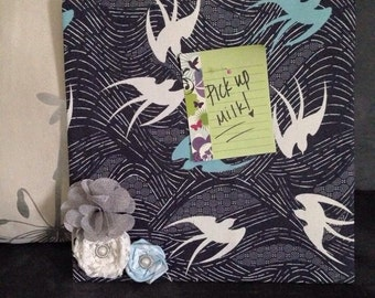 12x12 Fabric Covered Corkboard Message Center