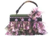 shabby cottage chic handbag, top handle bag, spring fashion, spring wedding, shabby wedding, Edwardian, Victorian bag, garden party