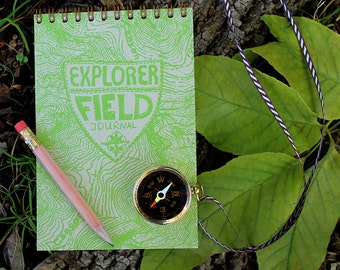 Explorer's Kit + mini magnifying glass on cord and pencil