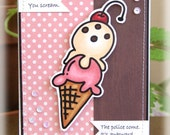 Humorous Ice Cream Handmade Funny Greeting