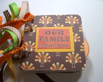 Thanksgiving Mini Album, Thanksgiving Scrapbook, Thanksgiving Photo Album, Thanksgiving Brag Book, Thanksgiving Album