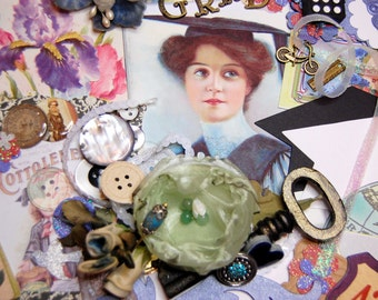 The Graduate Inspiration Multimedia Kit for Altered Art Scrapbooking Journals Card Making Collage Art