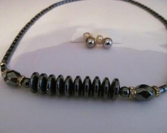 hemite beaded necklace plus post