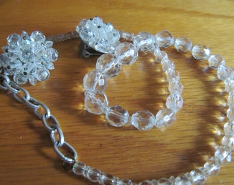 crystal bead necklace plus