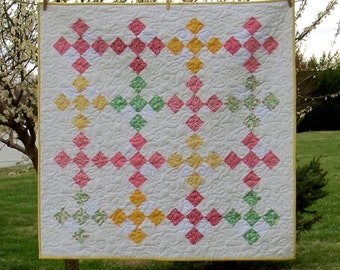 Price Reduced 30's Pastel Little Quilt