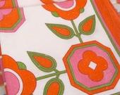 Vintage 1970s Flower Napkins