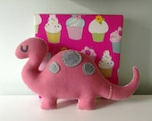 Pink Dinosaur Plush Toy