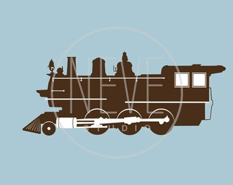 Modern Train Nursery wall art, transportation nursery 13 x 19 print by nevedobson - different colors and sizes available