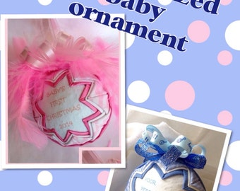 Personalized Custom Baby Ornament- baby shower, new baby gift