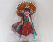 Vintage Senorita Doll - Mexico Souvenir Toy