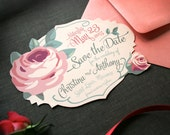 Vintage Rose Garden Save the Date Perfect for Spring and Summer Weddings -- PDF or Printed For You