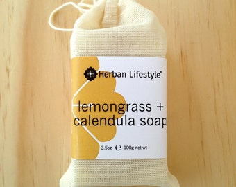 It's a Sunshiney Soap - Vegan - Calendula Tangerine Made with Organic Vegetable Oils