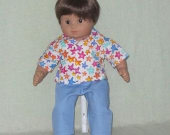 American Girl Bitty Baby Twin Boy Shirt w Pants Stars