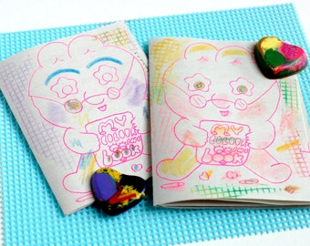 LIL newsprint colouring booklet two-sided (crayon NOT included) zine
