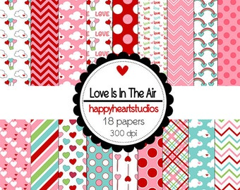 Digital Scrapbooking LoveIsIntheAir-INSTANT DOWNLOAD