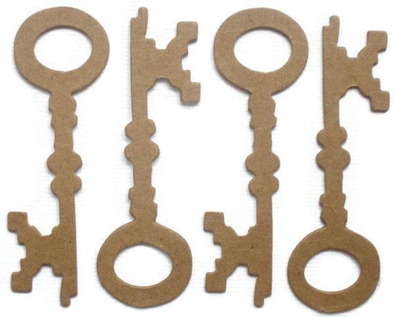 MiNi SKELETON KEY Chipboard Die Cut Shapes Bare Alterable