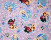 ON SALE Disney Frozen Fabric Princess Anna Princess Elsa 100  cm by 106  cm or 30 by 42 inch One Meter