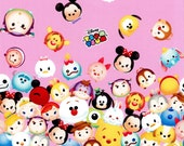 Special price 1 meter Disney Character  Disney tsum tsum fabric Print 100 cm by 106   cm or 39 by 42 inches