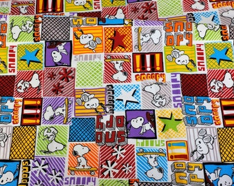 Peanuts Worldwide LLC Licensed fabric 1 meter Snoopy print Japanese fabric