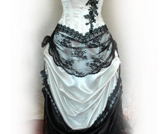 Virginia - Ivory and Black wedding gown