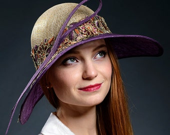 Modern vintage style hat for Derby, Ascot, weddings, holidays- Inspired by Downton Abbey film