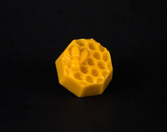 Pure Beeswax - 2.5 ounce hexagon honeycomb print block
