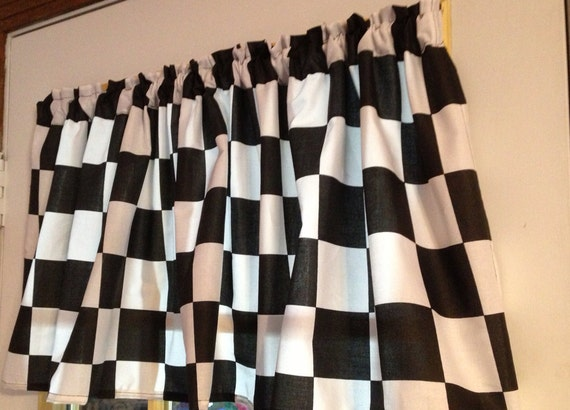 New Nascar Black And White Checkered Flag Retro 50 S Diner