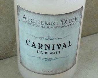 Carnival - Hair Mist - Detangler & Styling Primer - Pink Grapefruit, Cotton Candy, Caramel, Bourbon Vanilla