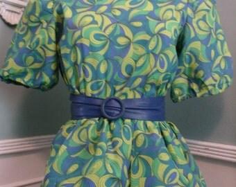 Vintage 50's Spring Dress. Vintage Cocktail Dress. Mad Men Style. Pin Up. Easter Dress