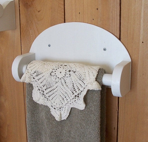 Hand Towels Holder: Simple Farmhouse Bathroom Hand Towel Holder / Towel By
