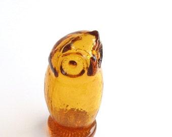 Retro Vintage Menagerie Owl by Pilgrim Art Glass-Scarce...SALE was 55.00