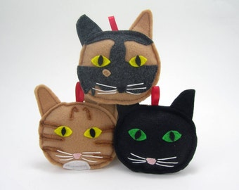 Personalized Cat Ornaments // Pet Ornaments Made to Order To Look Like Your Cat // Custom Made
