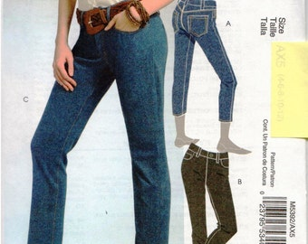 McCall's UNCUT Pattern M5392 - Misses Jeans in 2 Lengths - 4-12