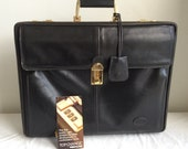 Genuine Vintage BALLY Leather Briefcase with Combo locks Attache Case