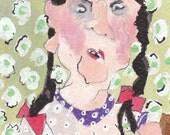 Homage to Zinaïda Evgenievna Serebriakova, young girl in braids