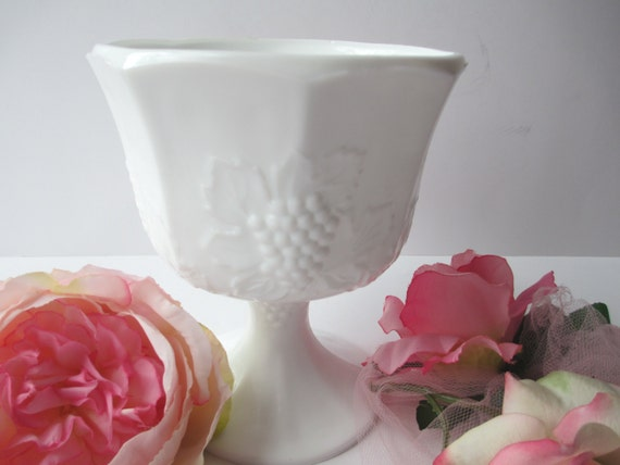 Vintage Harvest Milk Glass by Colony Classic Compote