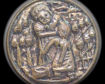 Rare Pictorial Metal Button - Small