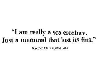 "I am a Sea Creature - 8 1/2"" x 11"" Print"