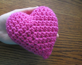 Large 3 Dimensional Amigurumi Crochet Heart