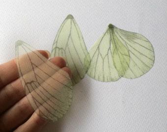 Light - Butterfly Wings of Silk Organza - PALE GREEN