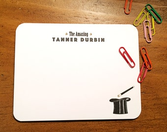 Printed Magician Personalized Stationery