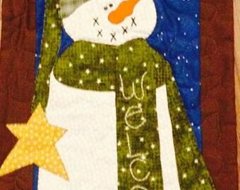 Welcome Snowman Door Banner