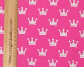 Sleeping beauty crowns 1/2 yard cotton lycra princess knit