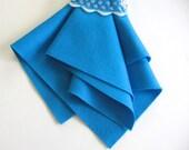 Turquoise Felt, 100% Wool, Choose Size, Waldorf Handwork, DIY Craft Supply, Quilt Applique, Stuffed Toys, Felted Wool, Washable, Scuba Blue