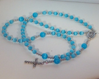 Cats Eye Rosary - Jewish, Catholic or Anglican, Made to Order - Choice of Colors