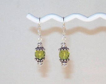 Swarovski Crystal Earrings - Available in All Colors - Shown in Peridot