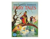 Vintage Fairy Tales Book Hans Christian Andersen 7 Stories with Color Illustrations Childrens Hardcover Book Thumbelina The Ugly Duckling