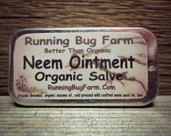 Neem Ointment Neem Salve Natural First Aid Medicated Salve Travel Size Eco Friendly Ingredients Not Tested on Animals Non GMO Treatment