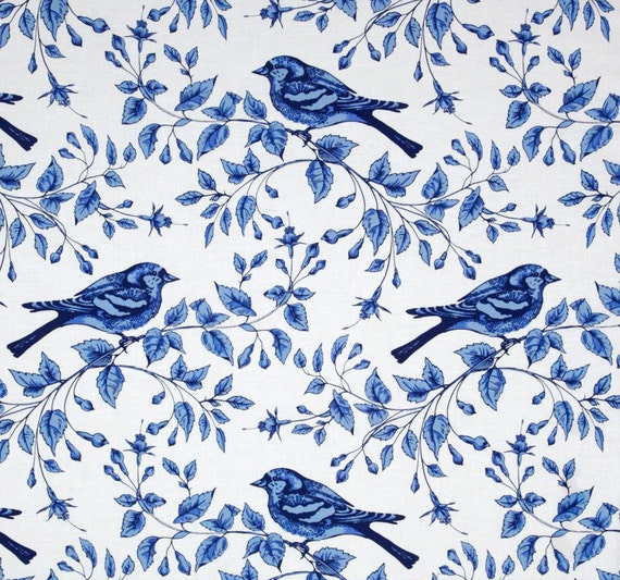 Bird Shower Curtain Blue White Shower By Asmushomeinteriors
